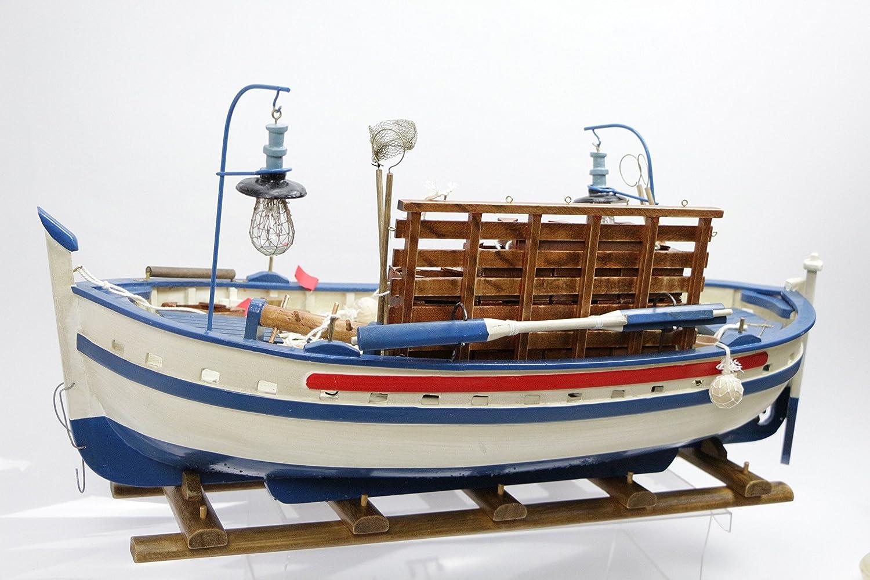 Pesca Barco Pescado cajas Bote madera 59 CMS Modelismo ...