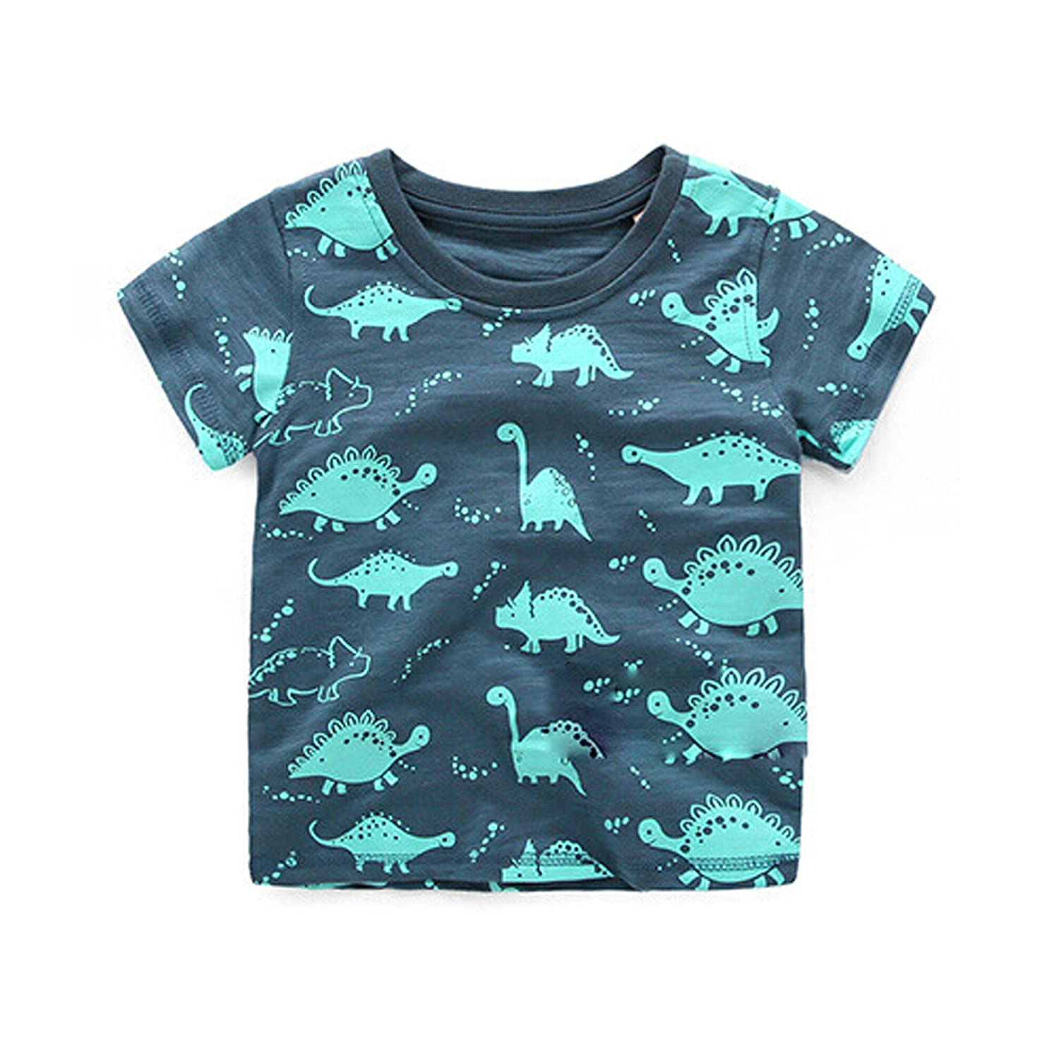 Linggo Boys Cute Little Dinosaur Summer Short Sleeve T-Shirt