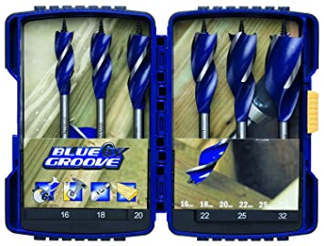 Unterschiedlich Irwin Blue Groove 6X Holzbohrer-Satz 16, 18, 20, 22, 25, 32 mm 6  VO95