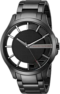 A|X Armani Exchange Mens Black IP Stainless Steel Watch