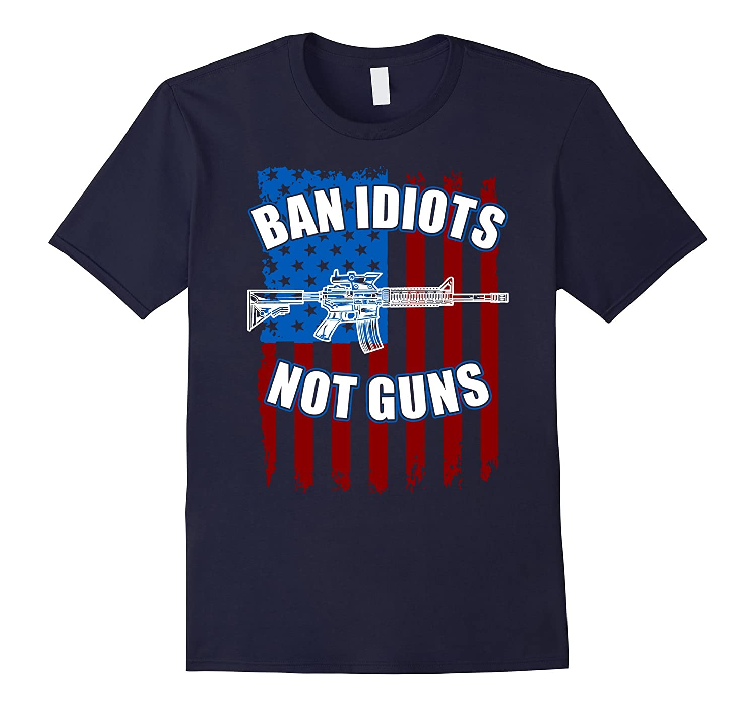 Ban Idiots Not Guns 2nd Amendment T-Shirt-Rose