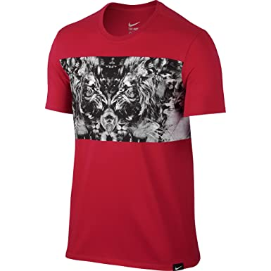 f0c609b0a Nike Dri-Fit Lebron James Lion Graphic Men's T-Shirt Red/Black/White ...