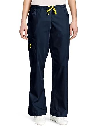 582f2944df1 WonderWink Women's Scrubs Romeo 6 Pocket Flare Leg Pant, Navy, XX-Small/
