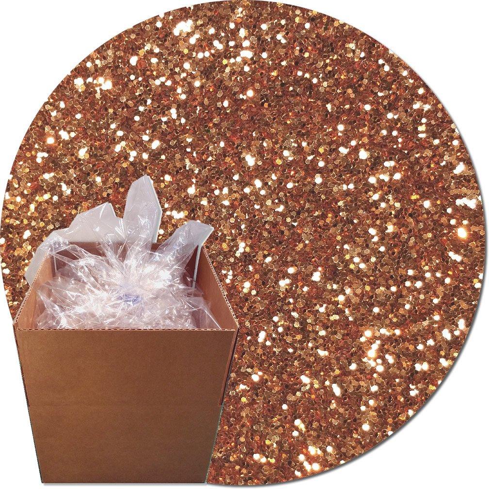 Glitter My World! Craft Glitter: 25lb Box: Copper Glitz