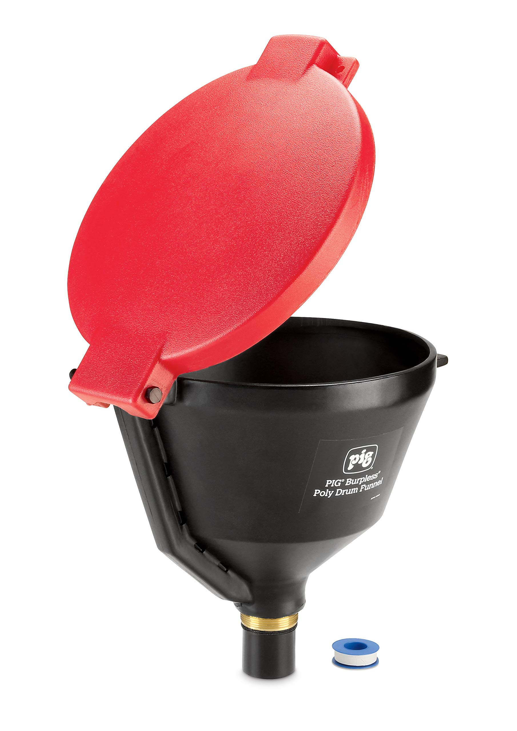 New Pig Burpless Poly Drum Funnel for Plastic & Steel Drums