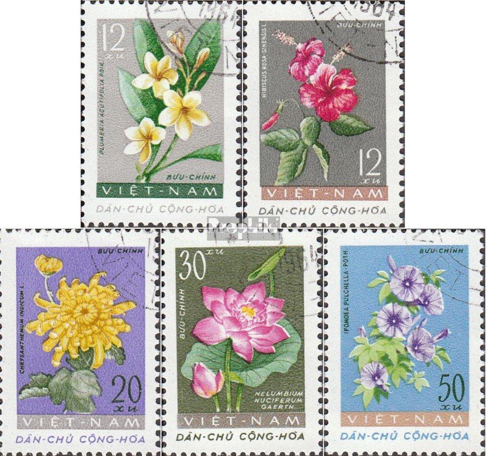 kompl.Ausg. Briefmarken f/ür Sammler 1962 Freimarken: Bl/üten Prophila Collection Vietnam 206-210 Pflanzen