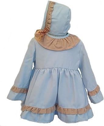 Godettia Vestidos Bebe Capota y Cubrepañal para Niñas de 12 Meses a 3 Años | para