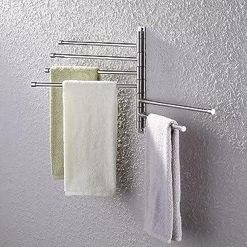 KES Bath Towel Holder Swing Out Towel Bar SUS 304 Stainless Steel Bathroom  Hand Towel Rack