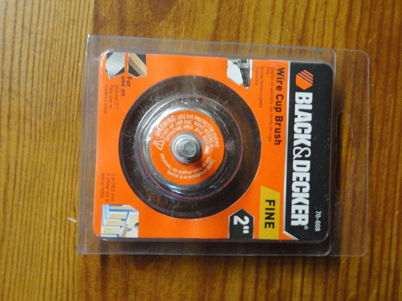 Black & Decker 70-608 2' Wire Cup Brush Fine BLACK+DECKER