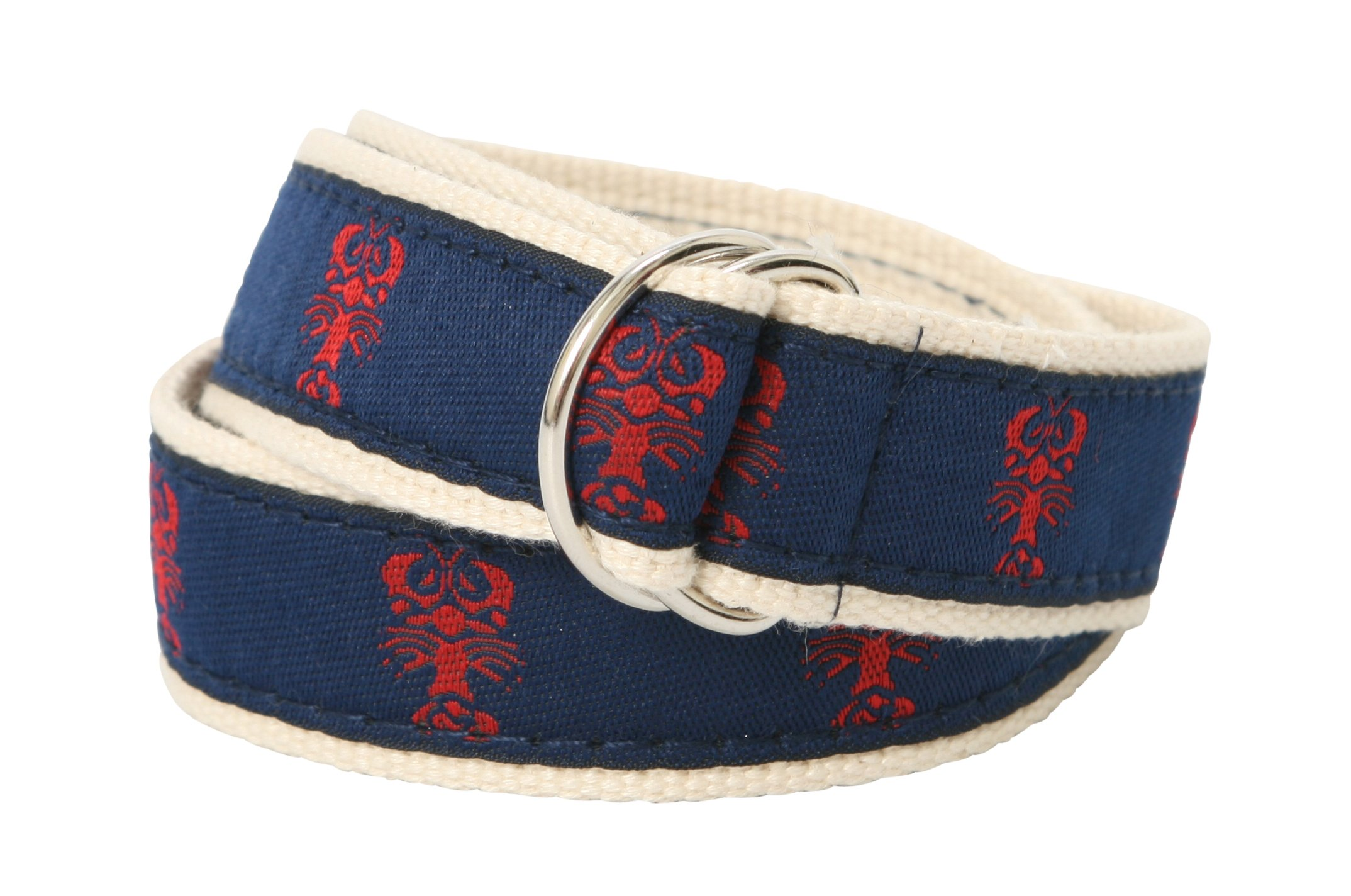 Bean Belts Boy's Preppy Lobsters Belt – Fits Children Sizes 2T - 4T – Fully Adjustable