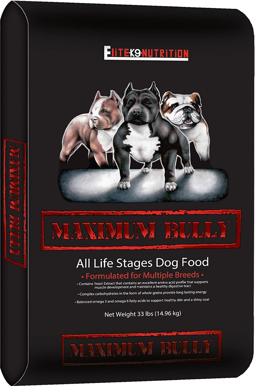 Maximum Bully Elite K9 Nutrition Chicken And Pork Dog Food, 33 Pound