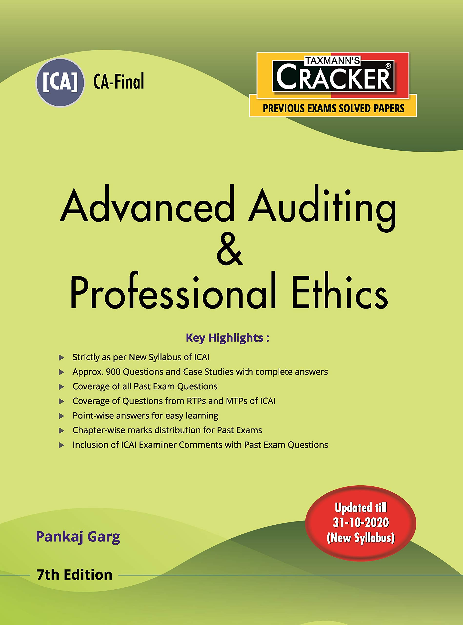 Taxmann's CRACKER–Advanced Auditing & Professional Ethics I CA Final–New Syllabus | Updated till 31-10-2020 | 7th Edition | December 2020