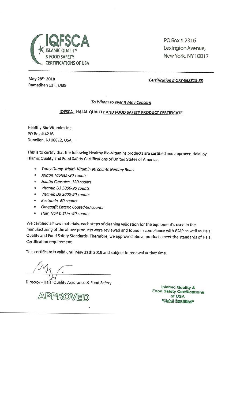 Amazon Jointin Halal Osteoarthritis Relief Supplements 90