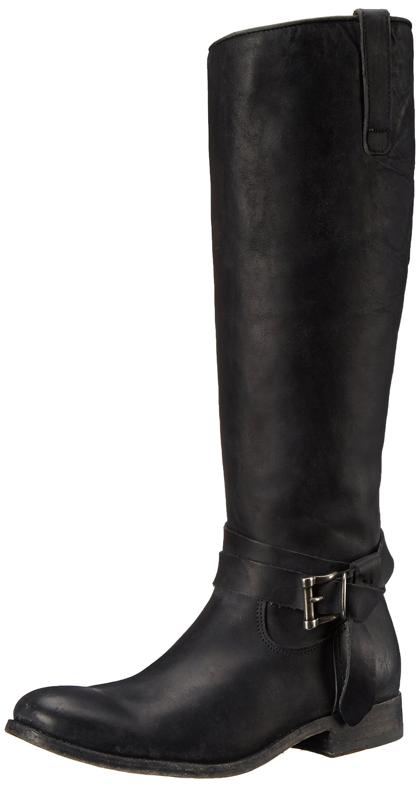FRYE Women's Melissa Knotted Tall Riding Boot, Black, 8 M US