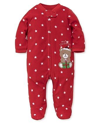 d119cd0ee Little Me Baby Infant Kid's Holiday Blanket Sleeper, Christmas Bear, 3  Months