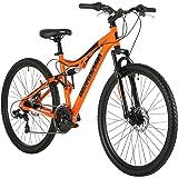 Barracuda Unisex Draco Ds Wheel 18 Inch Full Suspension Frame Mountain Bike, Orange, 27.5