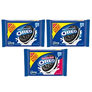 OREO Original & OREO Double Stuf Chocolate Sandwich Cookie Variety Pack, Family Size, 3 Packs