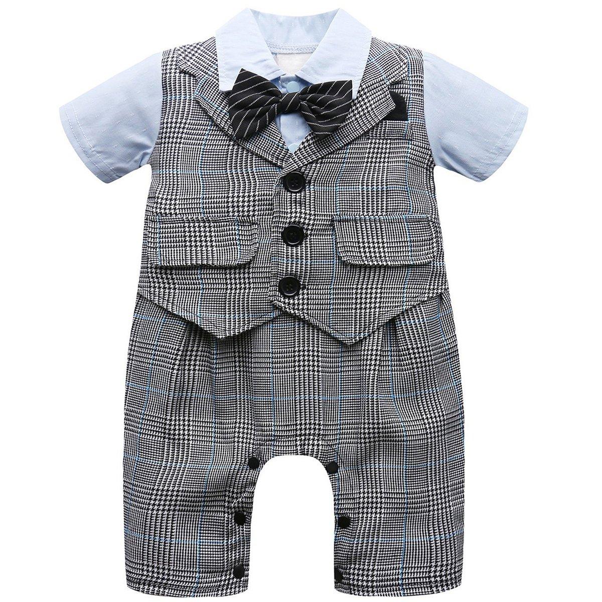 A& J Design Bambino Ragazzi Divertente Gentiluomo Costume Pagliaccetto