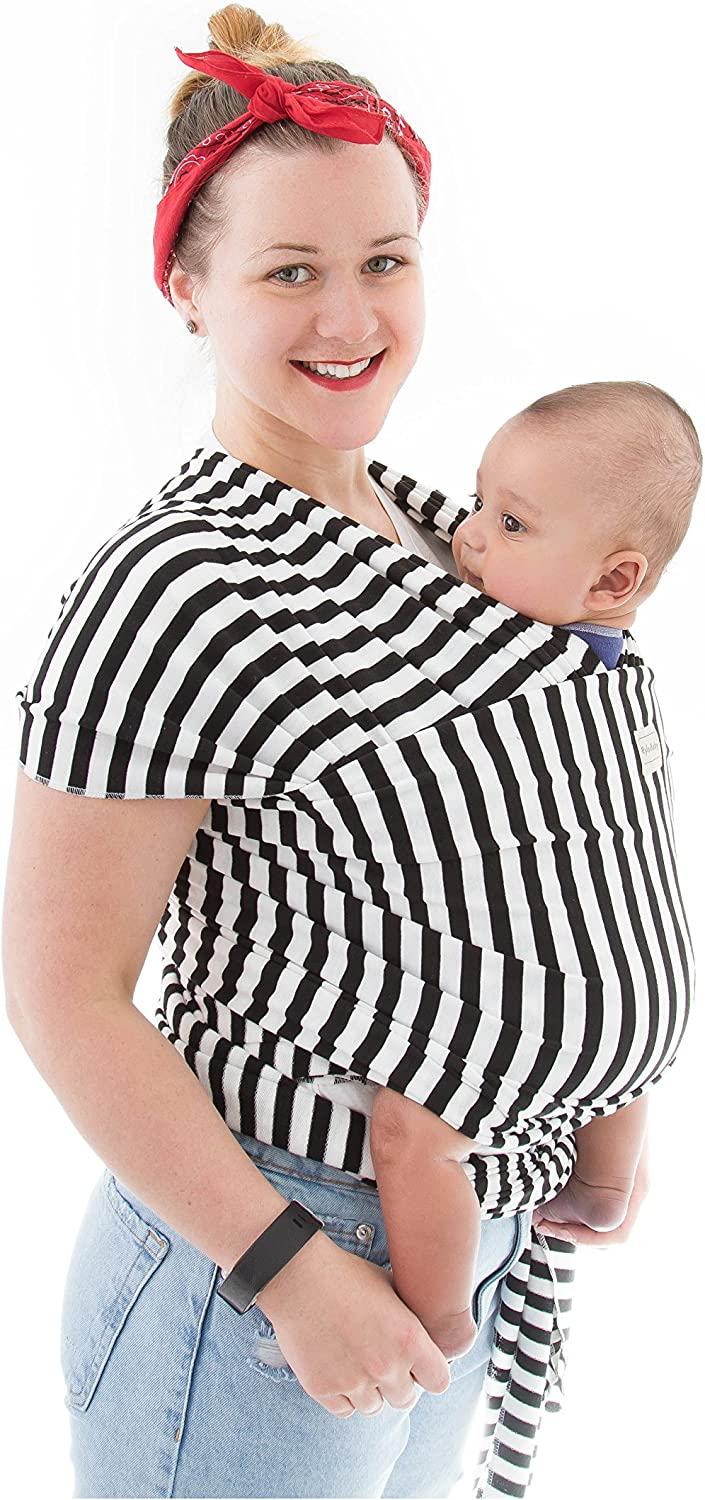 Black Stripe RylooBaby Wrap Carrier-Baby Carrier Sling-Infant Soft Carrier-Baby Sling-1.5 Inch-Pack of 1