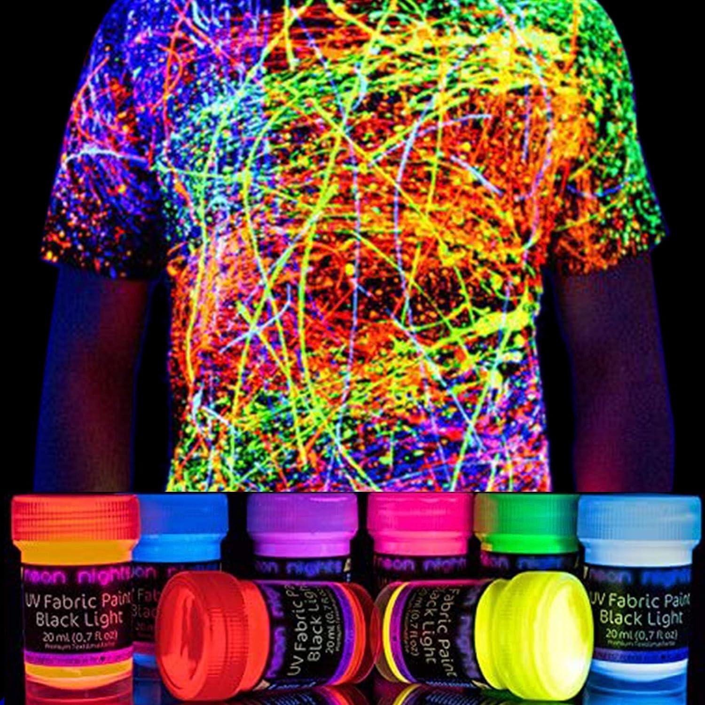 Peinture UV Fluo Teinture Tissu Textile T-Shirt