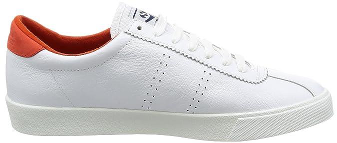 Superga , Baskets pour homme blanc Blanc/orange, 917 - White-Red, 10 US