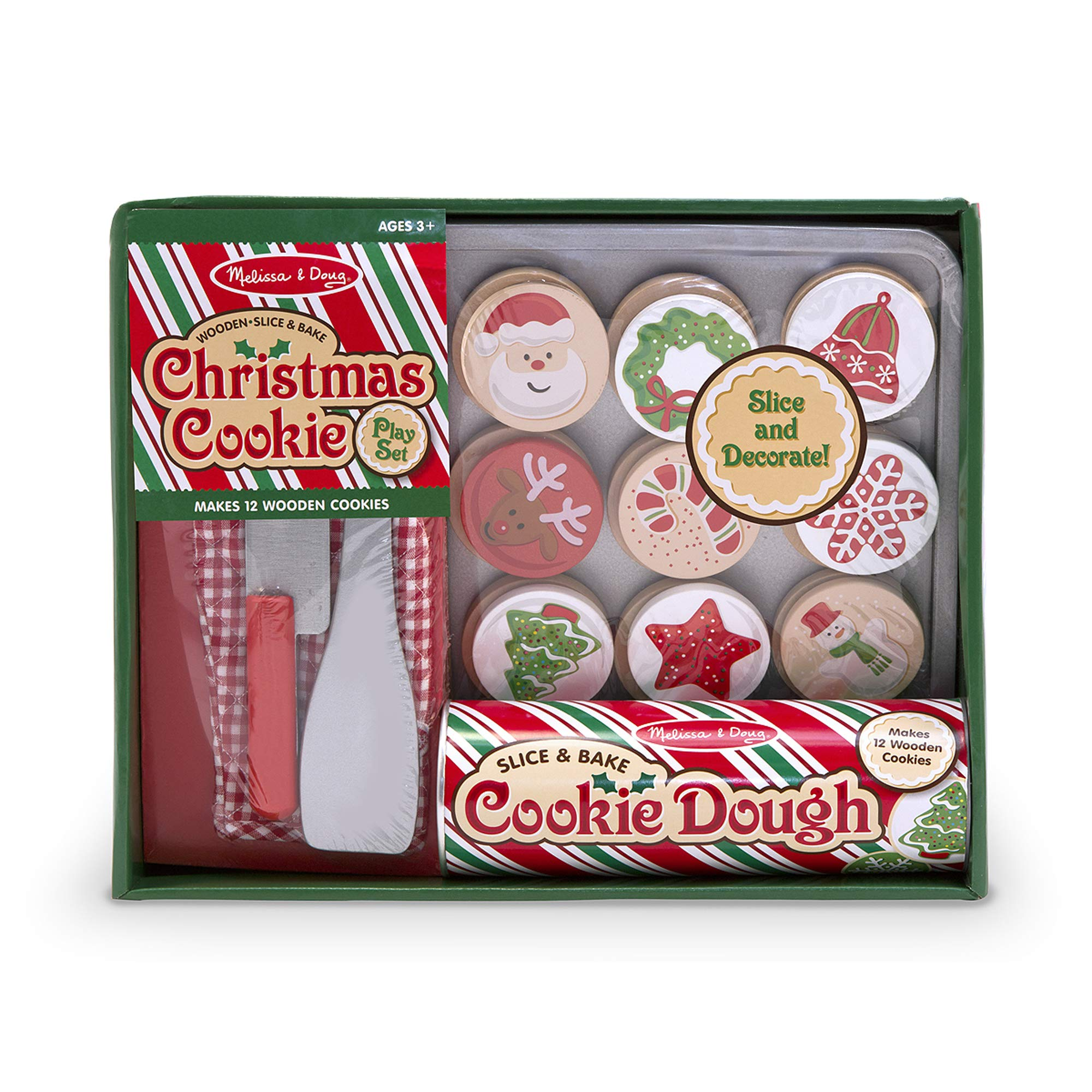 Melissa & Doug Slice and Bake Wooden Christmas Cookie Play Food Set by Melissa & Doug