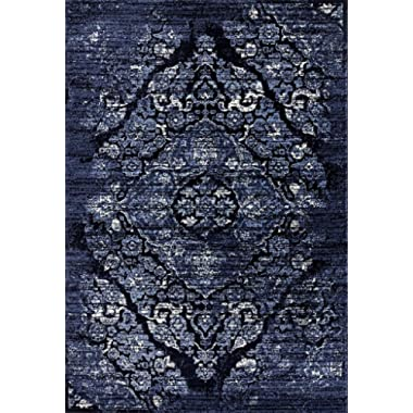 Persian Area Rugs 4620 Navy 5x7 Area Rugs