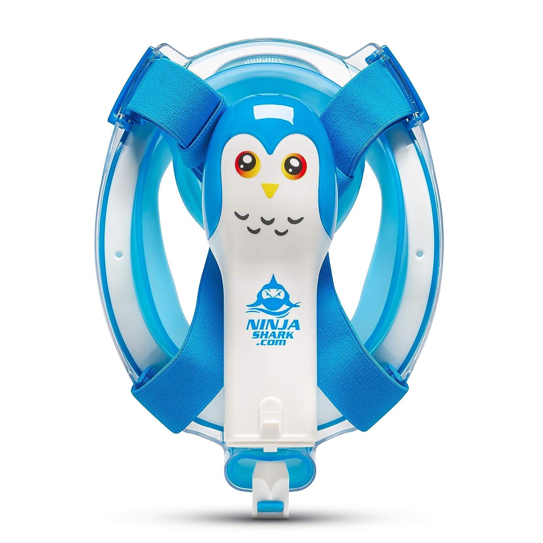Ninja Shark Máscara de Snorkel de Cara Completa para niños ...