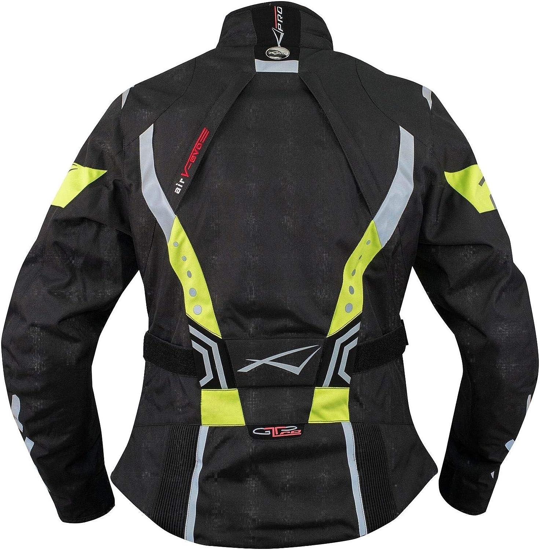 Lady Giacca Moto Donna Impermeabile Termica Sfoderabile Protezioni CE Grigio L