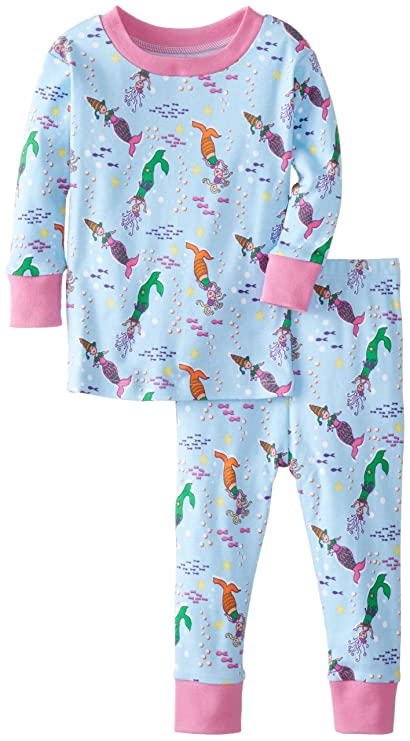 New Jammies Baby Girls' Mermaids Organic Two Piece Baby Pajama Set