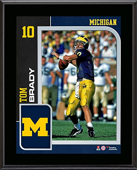 Tom Brady Michigan Wolverines 10.5 quot  x 13 quot  Sublimated Player  Plaque - College Player Plaques 3e4c7f024