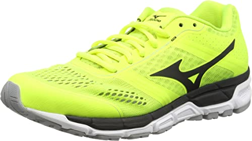 MizunoSynchro Mx - Zapatillas de running hombre , color amarillo (safety yellow/black/silver), talla 39 EU (6 UK): Amazon.es: Zapatos y complementos