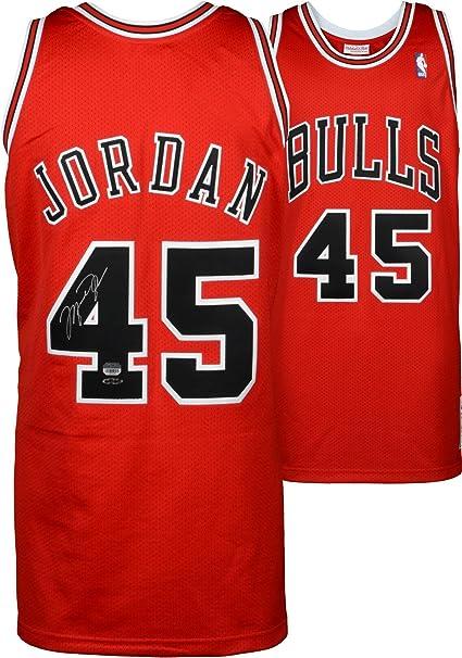 michael jordan red jersey