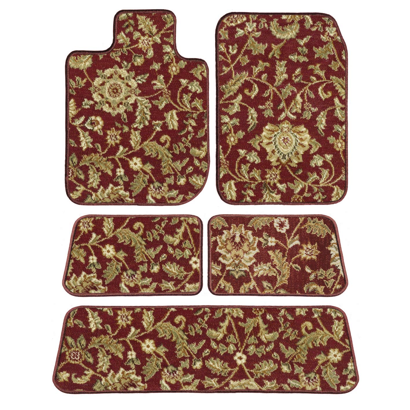 4 Piece Floor Mats 2nd /& 3rd Row Passenger GGBAILEY D3606A-LSA-RD-IS Custom Fit Car 2003 Honda Pilot Red Oriental Driver