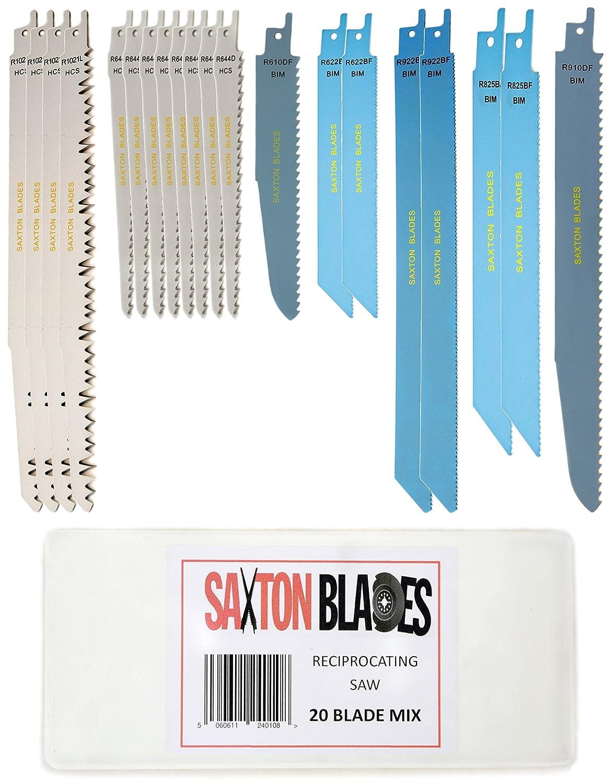 Rpr20mxa Saxton 20 Lame de scie sabre Sabre Combo Bois Mé tal et dé molition Compatible avec Bosch, Dewalt, Makita