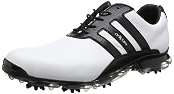 meet d4288 92446 adidas Adipure Classic, Men Golf shoes, Black White, 8 UK (42 EU