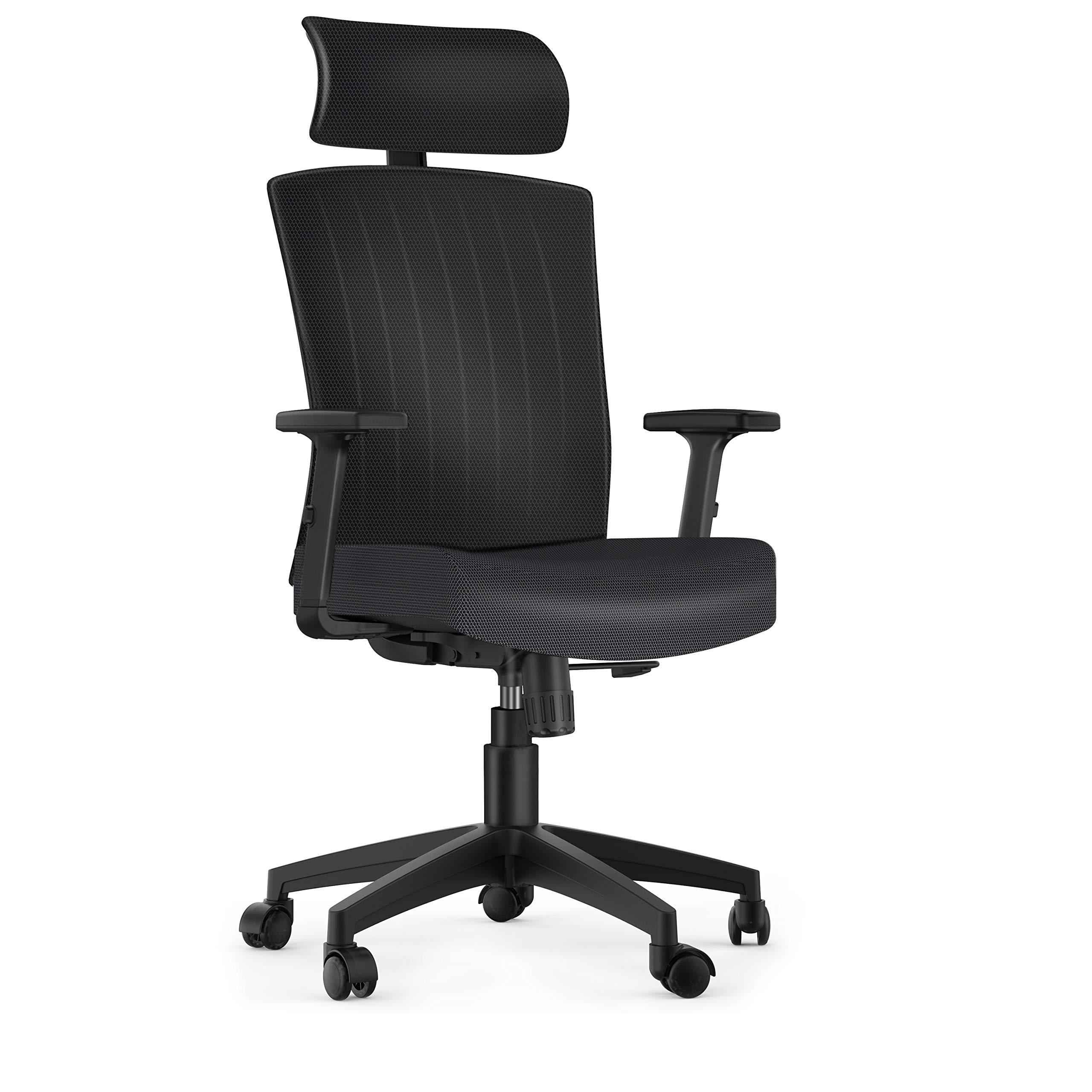 Ergonomic Office Chair High Back Mesh Desk Chair with Adjustable Seat Height Headrest Lumbar Support