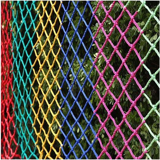 ZGQSW Red de Seguridad for Niños, Balcón Anti-caída Escalera Protección Red Jardín de Infantes Color Nylon Cuerda Decoración Mascota Loft Protección Exterior DIY Hamaca Columpio: Amazon.es: Hogar