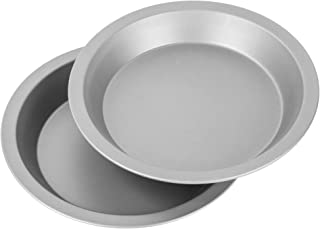 """product image for G & S Metal Products Company OvenStuff Nonstick 9"""" Pie Pans, Set of 2, Gray"""