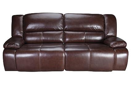 Amarillo Power Reclining Leather Sofa