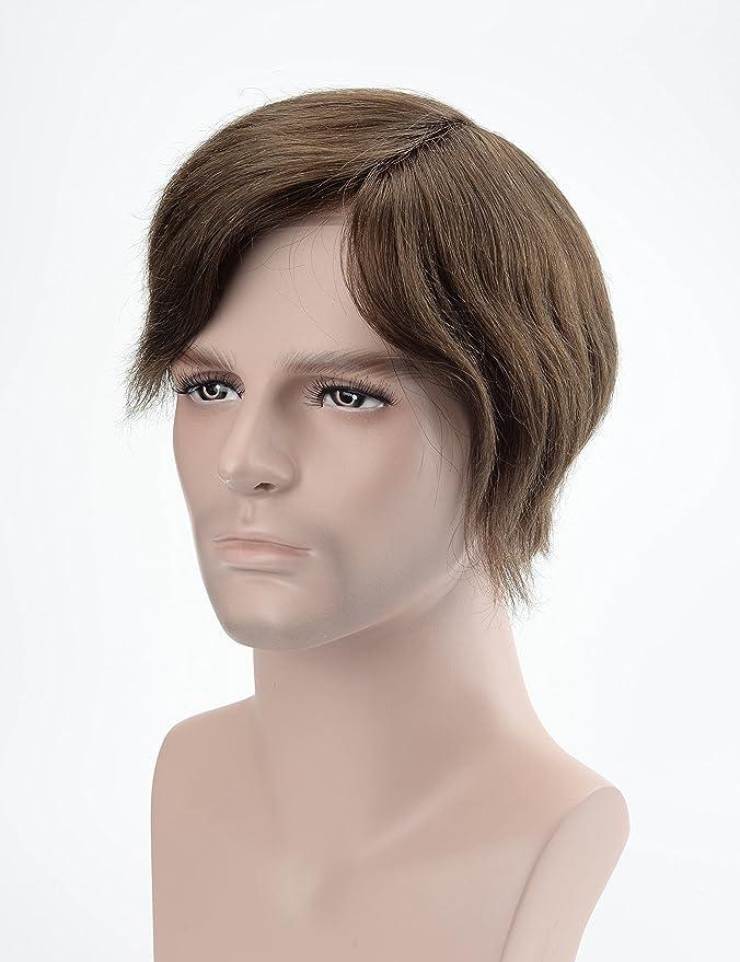 Lordhair Reemplazo de Cabello de Encaje Francés con Tupé Claro Para Hombre # 5 Para Hombres: Amazon.es: Belleza