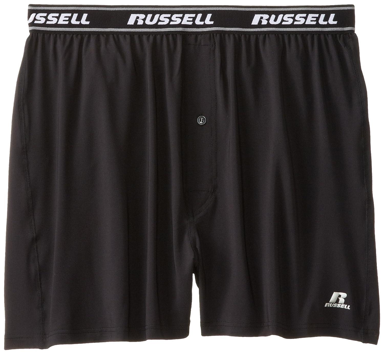 Russell Athletic Mens Big /& Tall Dri-Power Boxer Brief Black 1XL Profile RUS0001