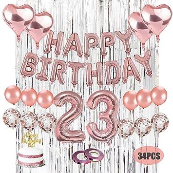 Amazon.com: Kwayi - Decoración para fiesta de 23 cumpleaños ...