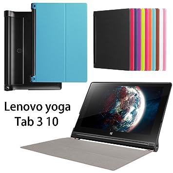 Lenovo Yoga Tab 3 10 caso, Ultra fina función atril funda ...