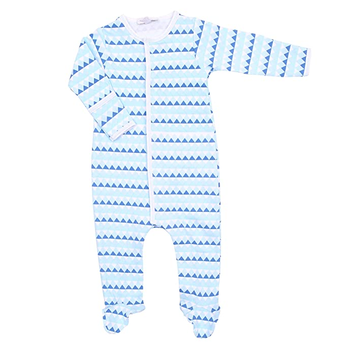 Magnolia Baby Baby Boy Fly Zone Printed Zipped Footie Blue