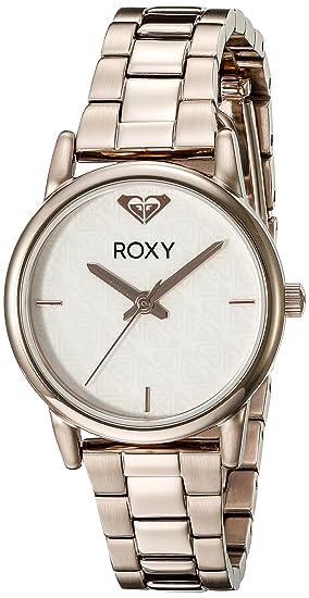 para Mujer Roxy The Huntington Reloj Infantil de Cuarzo con Esfera analógica Blanca y Correa de Acero Inoxidable de Oro Rosa y Cristales RX/1019wtrg: ...