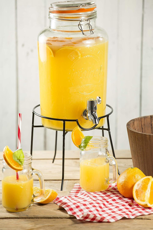 KILNER Dispensador de Bebida, Vidrio, Transparente, 6 litros: Amazon.es: Hogar