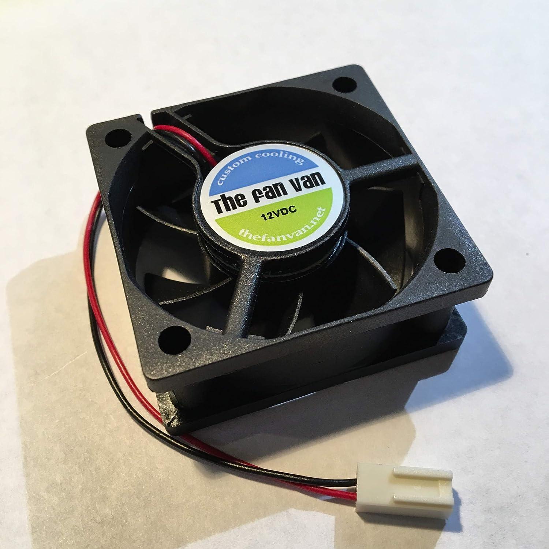 Quiet Fan for Tivo Roamio Plus, Pro, and Premiere 50mm x 20mm 2 Wire Fan Van Model TVF-RPL502012S
