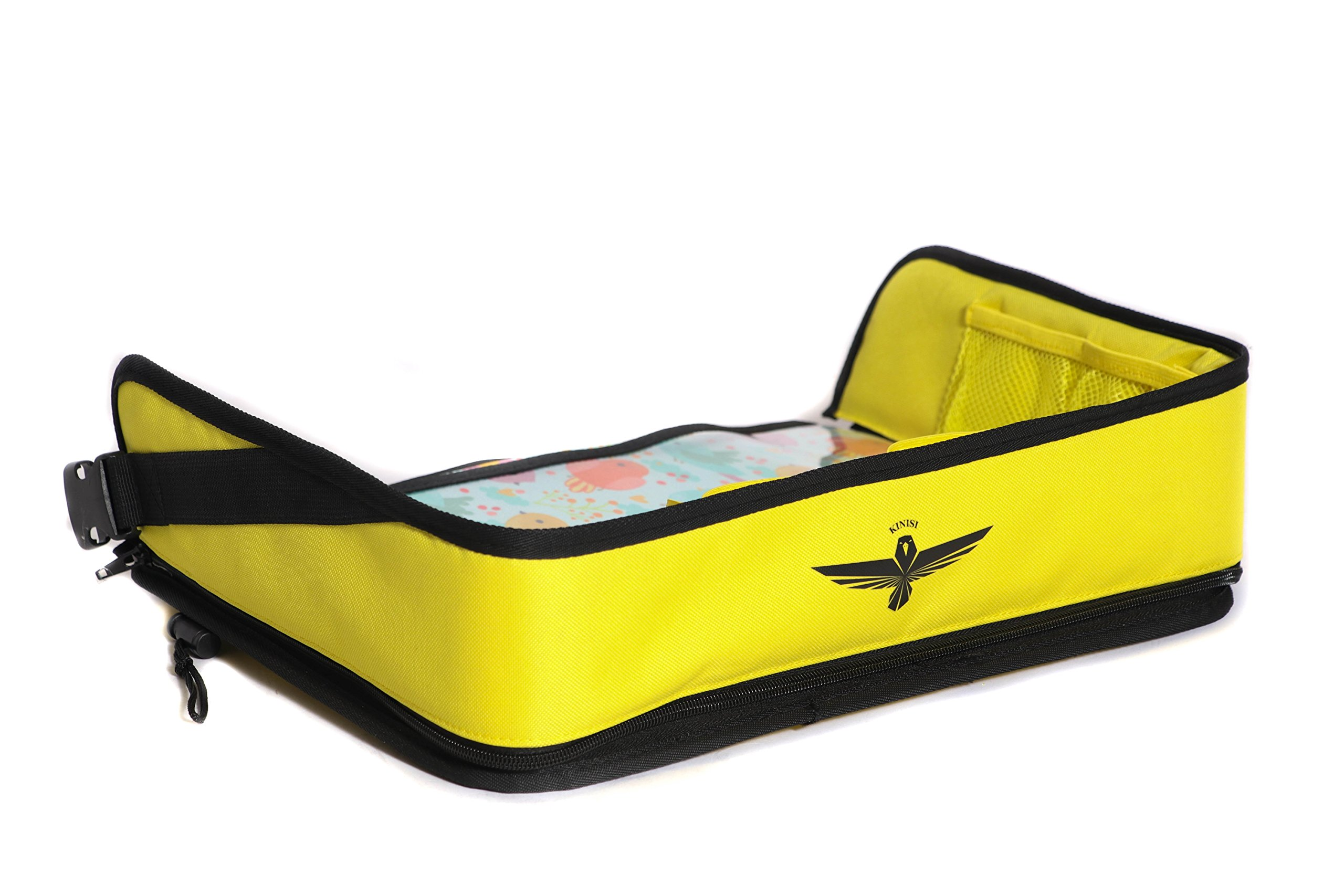 Kids Travel Tray | Premium Waterproof Dry Erase Surface for Snacks and Activity | Child Lap Seat Tray for Car and Airplane | Great for Kid Boys Girls and Toddlers