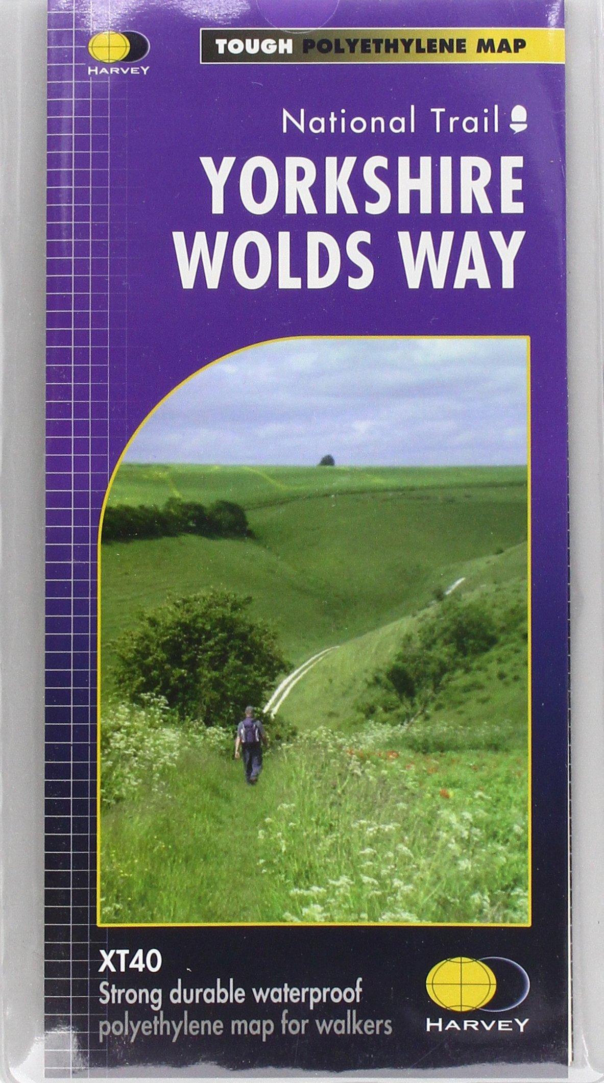 Yorkshire Wolds Way (Trail map): Amazon.co.uk: Harvey Maps ...